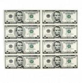 5美元8连体钞 美元连体钞