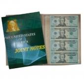 20美元4连体钞 美元连体钞