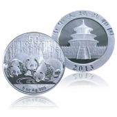 2013年熊猫金银纪念币5盎司银币