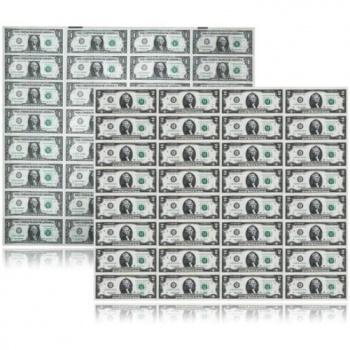 1美元32连体钞 美元整版钞