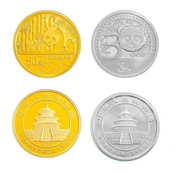中国熊猫金币发行30周年纪念金银币套装