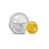 2013北斗卫星导航系统开通运行金银纪念币 金银套装