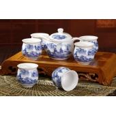 景德镇陶瓷茶具 7头功夫双层茶具套装