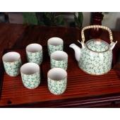 景德镇陶瓷器 7头大提梁壶茶壶茶盘整套装大号过滤茶杯