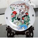 装饰盘子景德镇陶瓷器 粉彩青花瓷盘
