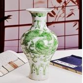 时尚家居摆设陈设瓷 7款雕刻龙瓶