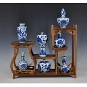 景德镇陶瓷器 手绘青花瓷花瓶