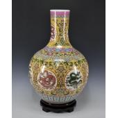 景德镇瓷器落地大花瓶 现代时尚简约客厅摆件