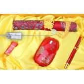 中国红瓷 商务办公用品办公五套件