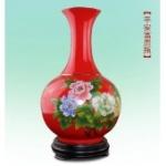 醴陵中国红瓷花瓶平安富贵