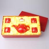 中国红瓷器 正宗骨瓷陶瓷瓷器茶具