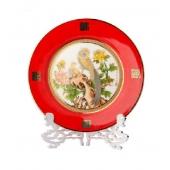 红瓷盘锦绣前程