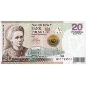 居里夫人获得诺贝尔化学奖100周年纪念钞 波兰20元居里夫人纪念钞