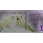 北极币1元塑料钞 北极熊纪念钞