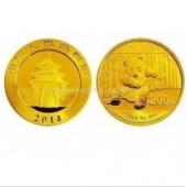 2014年熊猫金币 1/2盎司 圆形金币