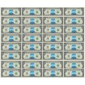 《中国钓鱼岛》 美元32连体特别纪念钞