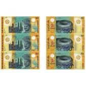 马来西亚50元三连体钞 塑料钞