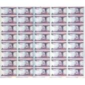 立陶宛5Litai 40连体整版钞