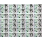 英国1997年5 Pounds三十五连体整版钞