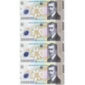 罗马尼亚500000Lei 4连体塑料钞