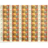 澳大利亚$20 40连体整版钞