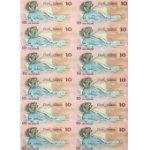 库克群岛1987年$10十二连体钞