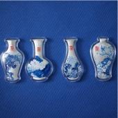 四季平安青花瓷彩色银条20g*4枚装