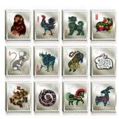 第一轮十二生肖邮票银砖