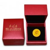 毛泽东诞辰一百二十周年伟人风范纪念金像章1克