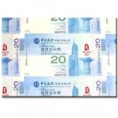 香港35连体整版奥运钞  后四位无4