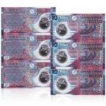 香港10元塑料钞3连体 香港塑料公益钞 公益钞三联体