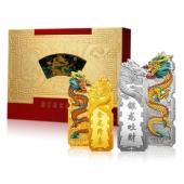 《金龙降喜 银龙吐财》龙年贺岁彩色金银条(1.8g金+18克银)