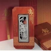 南京造币 2012龙年纯银纪念银条500克