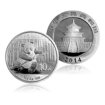 2014年熊猫银币1盎司 圆形银币