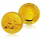 2014年熊猫金币 1/20盎司 圆形金币