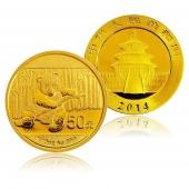 2014年熊猫金币 1/10盎司 圆形金币