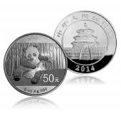 2014年熊猫银币 5盎司 圆形精制银币