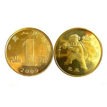 2009年生肖牛年贺岁普通流通纪念币