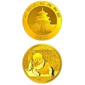 2015年1/2盎司熊猫金币 15年二分之一盎司金猫  熊猫金银币