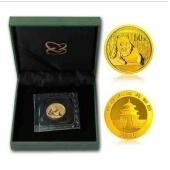 2015年1/10盎司熊猫金币 15年十分之一盎司金猫  熊猫金银币