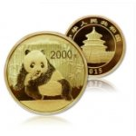 2015年5盎司熊猫金币 15年五盎司金猫 熊猫金银币