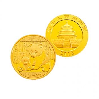 2012年熊猫1盎司本色金币