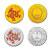 2012中国壬辰(龙)年圆形彩色金银纪念币套装(1/10盎司金+1盎司银)