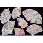 外国纸币105张 世界钱币收藏品 含塑料钞 美元 外币大全 纸币收藏册创意礼品 送册子