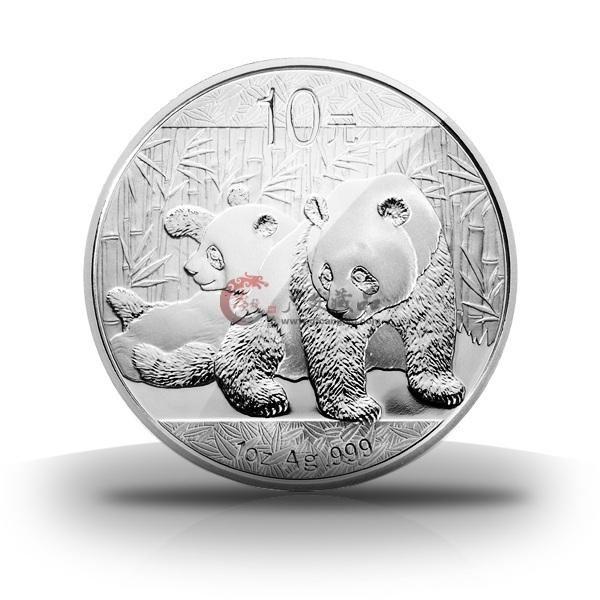 2010年1盎司熊猫银币