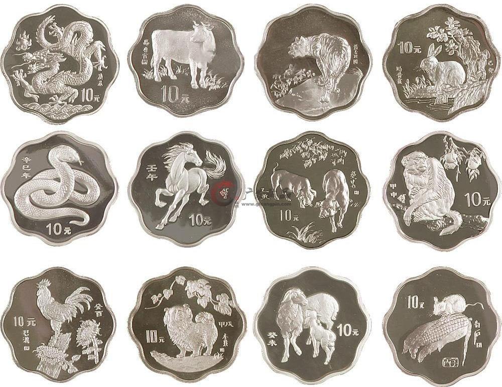 1998-2009十二生肖1盎司本色银银质纪念币大全套