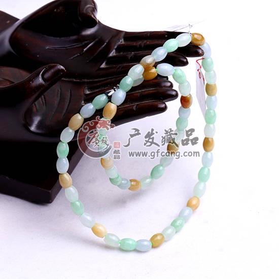 老坑冰糯种彩珠翡翠项链 AE8 30171575