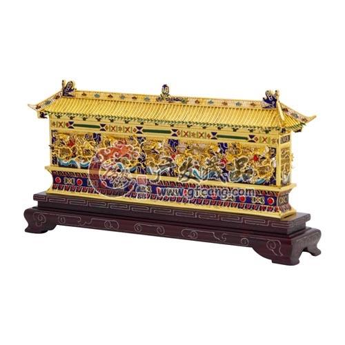 景泰蓝花丝镶嵌掐丝珐琅 故宫九龙壁