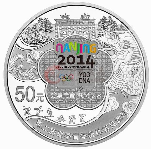 (1/4盎司)圆形精制金质纪念币正面图案