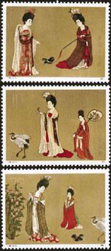 T89M簪花仕女图(小型张)邮票